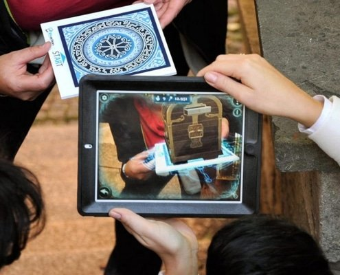 iPad with augmented reality