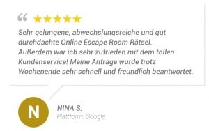 online escape room bewertung n s